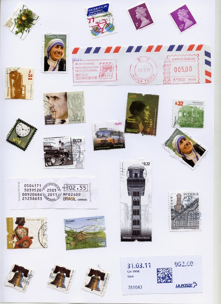 alguns selos de envios de subscrições da ILC