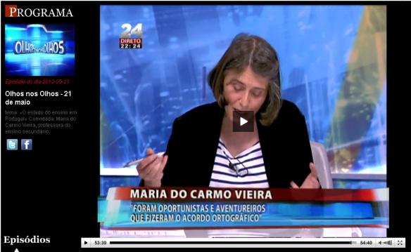 """Click na imagem para aceder ao vídeo em TVI24 """"online""""."""
