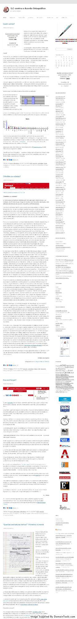 o 2.º site da ILC-AO
