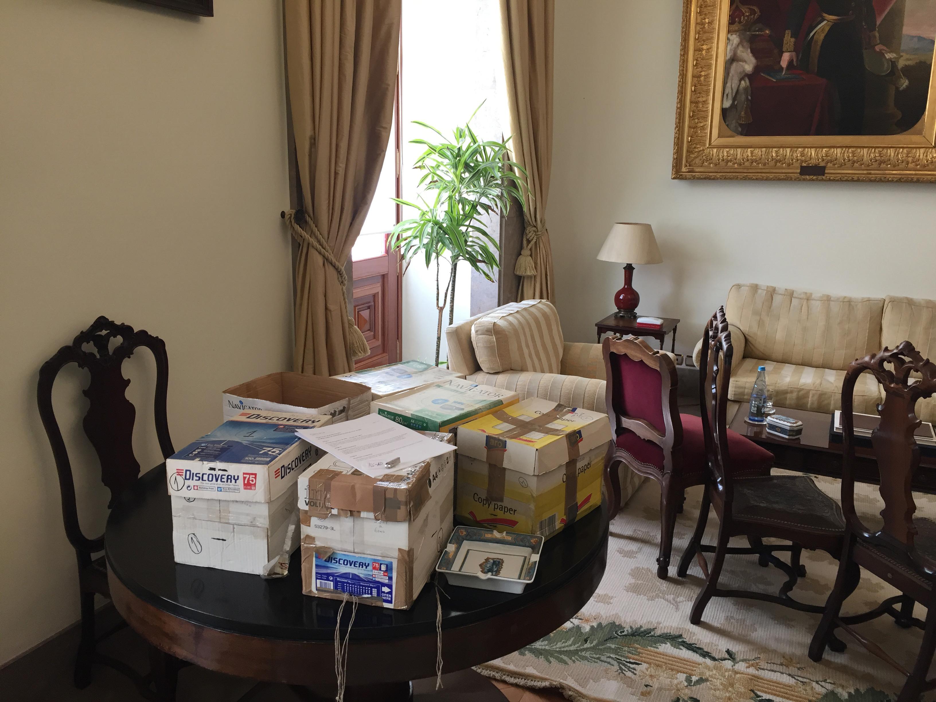 As caixas com as assinaturas, Gabinete do Vice-Presidente da Assembleia (I.L.C. contra o Acordo Ortográfico, 2019)